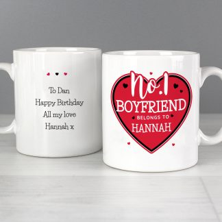Personalised No.1 Belongs To Mug