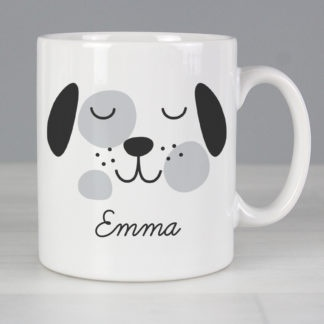 Personalised Cute Dog Face Mug