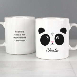 Personalised Cute Panda Face Mug