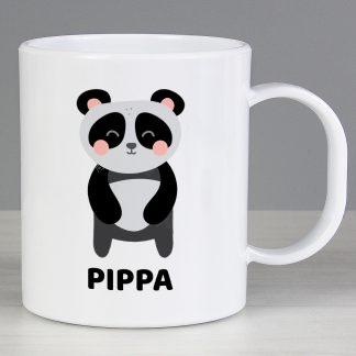 Personalised Panda Plastic Mug