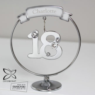 Personalised Name Only Crystocraft 18th Celebration Ornament