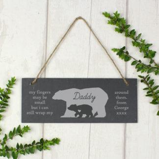 Personalised Polar Bear Slate Door Plaque