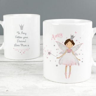 Personalised Fairy Princess Plastic Mug