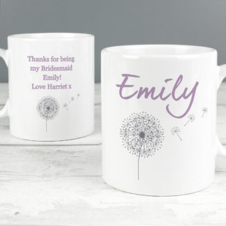 Personalised Dandelion Mug