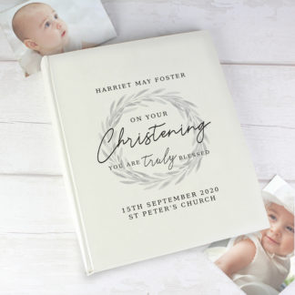 Personalised 'Truly Blessed' Christening Photo Album