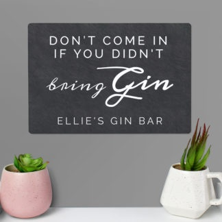 Personalised Gin Metal Sign