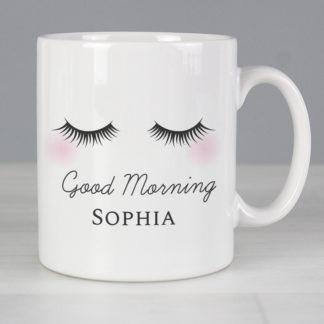 Personalised Eyelashes Mug