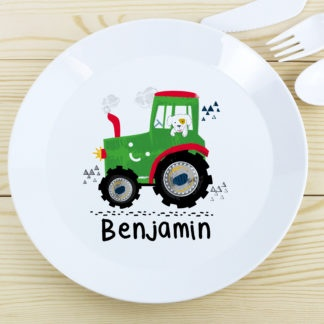 Personalised Tractor Plastic Plate