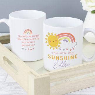 Personalised You Are My Sunshine Mug