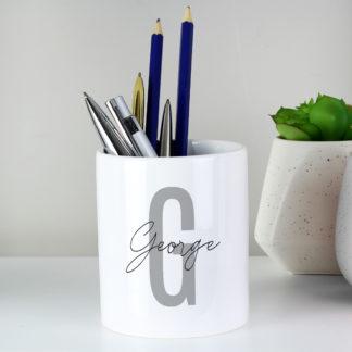 Personalised Initial & Name Ceramic Storage Pot