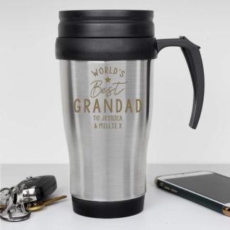 Personalised 'Worlds Best' Travel Mug