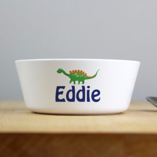 Personalised Dinosaur Plastic Bowl